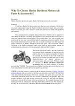 Why To Choose Harley Davidson Motorcycle Parts & Accessories?