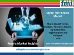Fruit Snacks Market: Global Industry Analysis, size, share and Forecast 2015-2025 by Future Market Insights