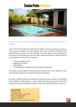 Casino Pools- A Family Owned and Operated Concrete Swimming Pool Builders in Brisbane