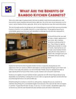 What Are the Benefits of Bamboo Kitchen Cabinets?
