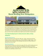Metal Roofing New Hampshire
