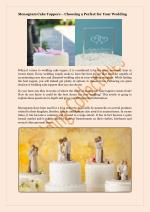 Monogram Cake Toppers – Choosing a Perfect for Your Wedding
