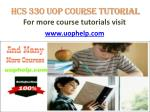 HCS 330 UOP COURSE Tutorial/UOPHELP