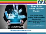 Digital Oilfield Solutions Market: Global Industry Analysis and Forecast Till 2025 by Future Market Insights