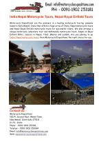 India Nepal Motorcycle Tours, Nepal Royal Enfield Tours