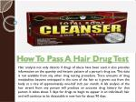 Pass A Hair Follicle Drug Test