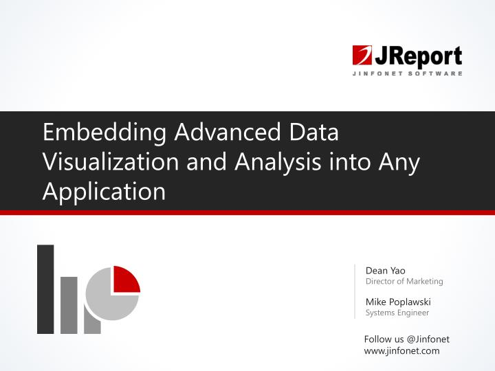 embedding advanced data visualization and analysis into any application n.