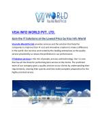 lowest price IT company in noida|visa info world best IT solutions india-visainfoworld.com