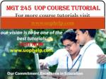 MGT 245 Course tutorial uophelp
