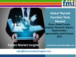 Thyroid Function Tests Market Value and Forecast 2015-2025 by Future Market Insights