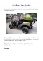 John Deere Gator London