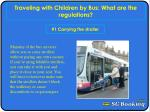 Traveling with Children by Bus: What are the regulations?
