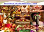 Save a Lump sum with Budget Banquet Halls in Chennai