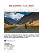 Best Motorbike Tour in Ladakh