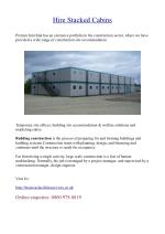 Hire Stacked Cabins