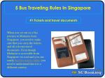 5 bus traveling rules in Singapore