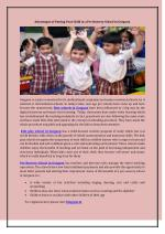 Advantages of Putting Your Child in a Pre Nursery School in Gurgaon