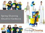 Spring Cleaning Checklist Canberra