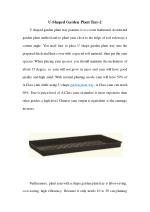 U-Shaped Garden Plant Tray-2