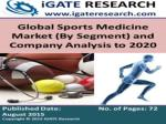 Global Sports Medicine Market (By Segment) and Company Analysis to 2020