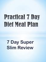 Practical 7 Day Diet Meal Plan