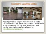 Stamped Concrete Floors Dallas