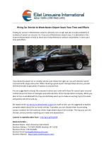 Hiring Car Service to Westchester Airport Saves Your Time and Efforts