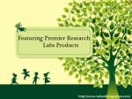 Featuring Premier Research Labs Products