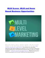 MLM Scores -MLM and Home Based Business Opportunities