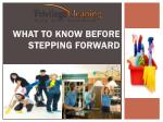 What to know before stepping forward