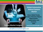 Automotive Exhaust Systems Market Volume Analysis, size, share and Key Trends 2015-2025 by Future Market Insights