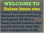 Stretch limo los angeles