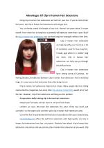 Advantages Of Clip In Human Hair Extensions