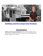 Building and Pest Inspection Brisbane | Pest and Building Inspections Brisbane