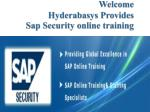 sap security online training in UK