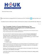 Your Complete Guide to Furnace Maintenance Tips