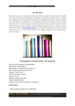 Transparent colored acrylic rod Supplier