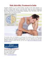 Male Infertility Treatment in India