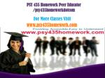 PSY 435 Homework Peer Educator /psy435homeworkdotcom
