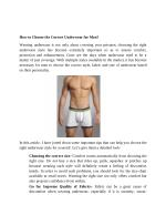 How to Choose the Correct Underwear for Men?