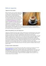 Melk voor cappuccino