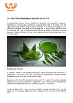 Get Rid Of Psoriasis Naturally With Neem Oil