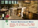 eWineDine | Tablet Restaurant Menu App