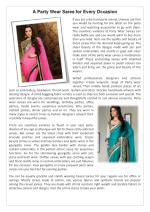 A Party Wear Saree for Every Occasion