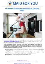 No Time For Cleaning? Use Residential Cleaning Today