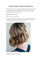 Wedding hairstyle for different wedding dresses
