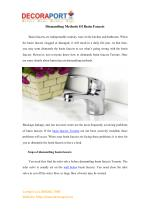 Dismantling Methods Of Basin Faucets