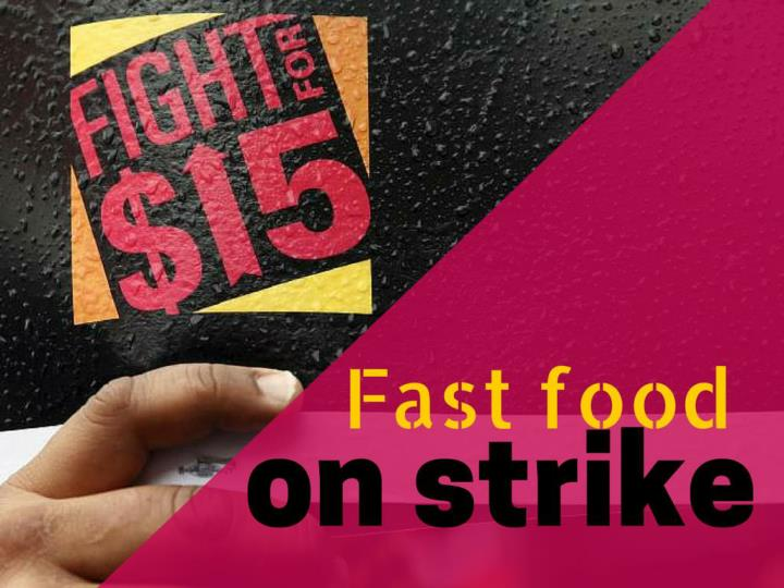 Fast food on strike