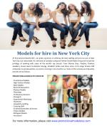 Models for hire in new york city