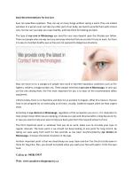 Basic Recommendations For Eye Care